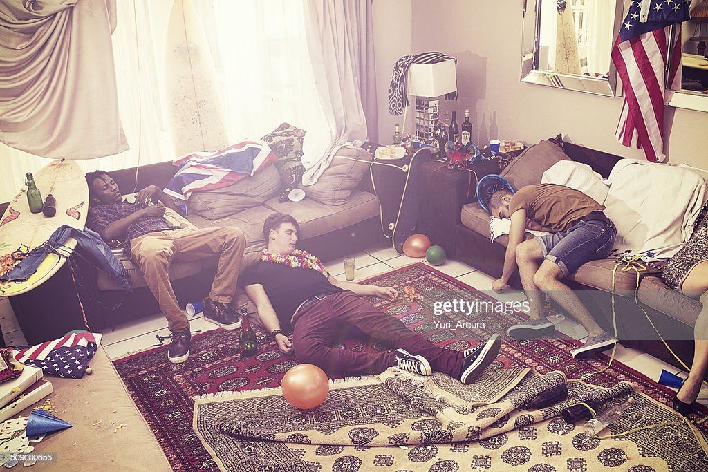 Passed out after the party : Stock Photo