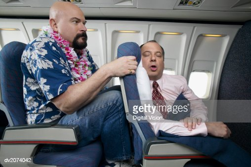 Passenger Angry About the Lack of Seating Space on an Aeroplane