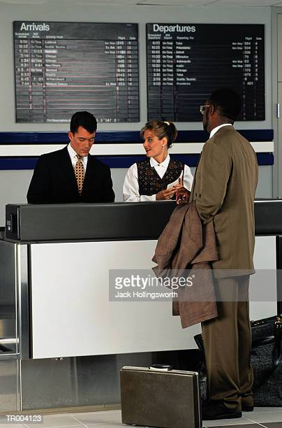 Passenger at the Ticket Counter