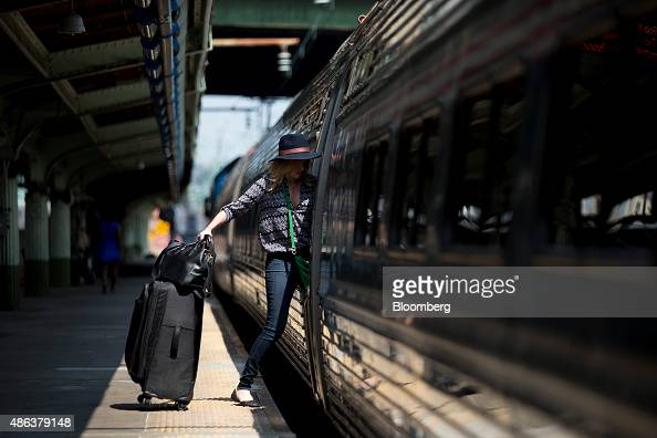 A passenger boards an Amtrak Northeast Regional train at Union Station in Washington DC US on Thursday Sept 3 2015 Secretary of Homeland Security Jeh...