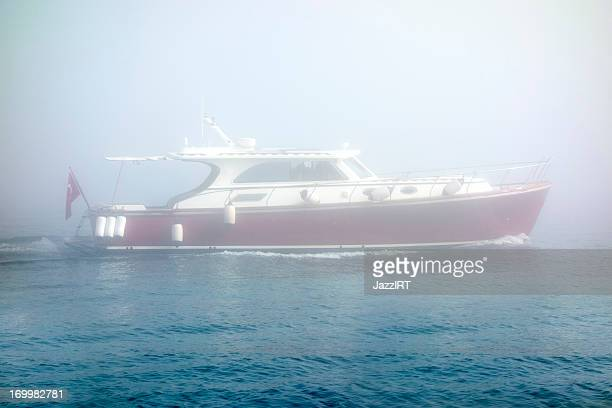 Passenger boat, foggy weather