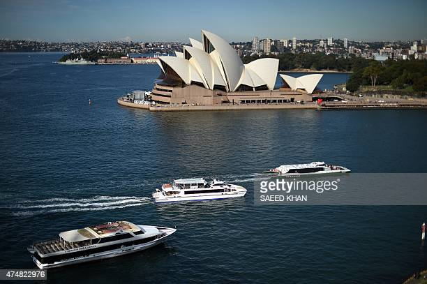 Passenger boats sail towards the Circular Quay ferry terminal in front of Sydney's Opera House on May 27 2015 According to an infrastructure audit...