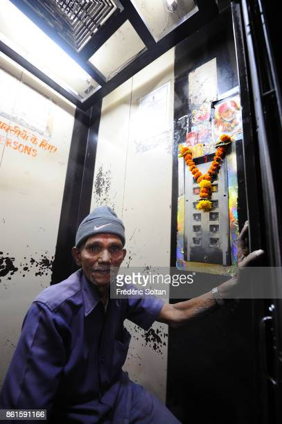 Passenger elevator in a new building in Mumbai on March 15 2014 in Mumbai India
