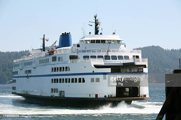 Passenger Ferry arriving at Pier near Vancouver, Canada