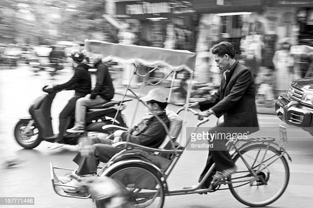 Passenger In A Rickshaw In Hanoi, Vietnam