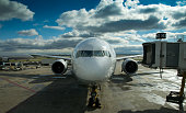 Passenger Jet Arriving at the Gate