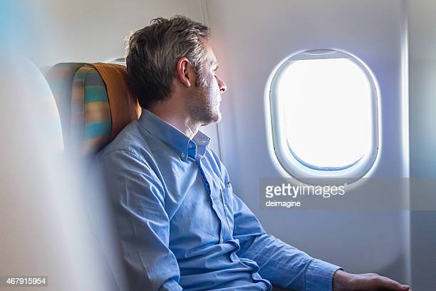 Passenger on Airplane