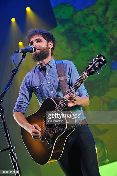 Passenger performs on stage at Eventim Apollo Hammersmith on December 7 2014 in London United Kingdom
