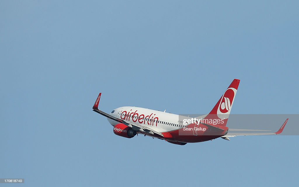 A passenger plane of German airline Air Berlin takes off from Tegel airport on June 16, 2013 in Berlin, Germany. The union of Air Berlin pilots announced recently it will begin strikes in coming days to put pressure on the airline over wages.