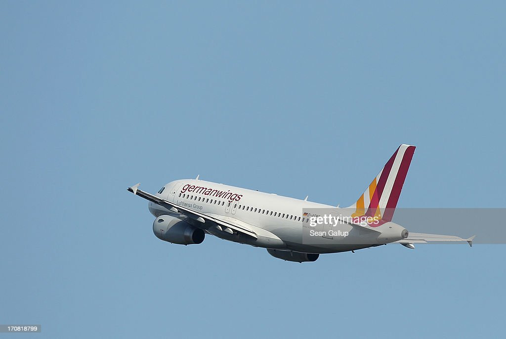 A passenger plane of German airline Germanwings takes off from Tegel airport on June 16, 2013 in Berlin, Germany. The union of Germanwings flight attendants, Ufo, announced recently it is considering strikes in coming days to put pressure on the airline over wages.
