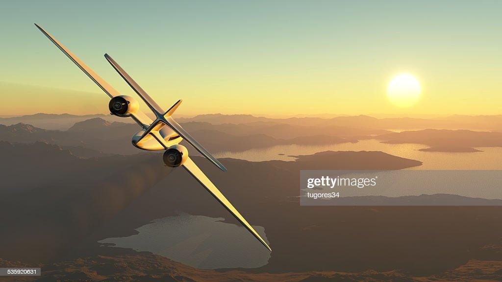 passenger plane : Stock Photo