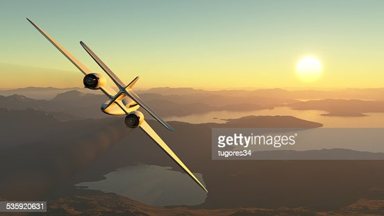 passenger plane : Stock Photo
