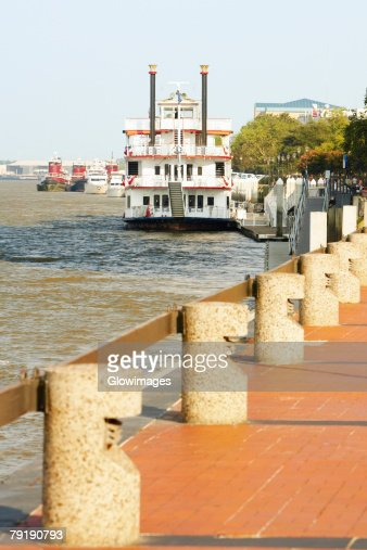 Passenger ship in a river, Savannah River, Savannah, Georgia, USA : Foto de stock
