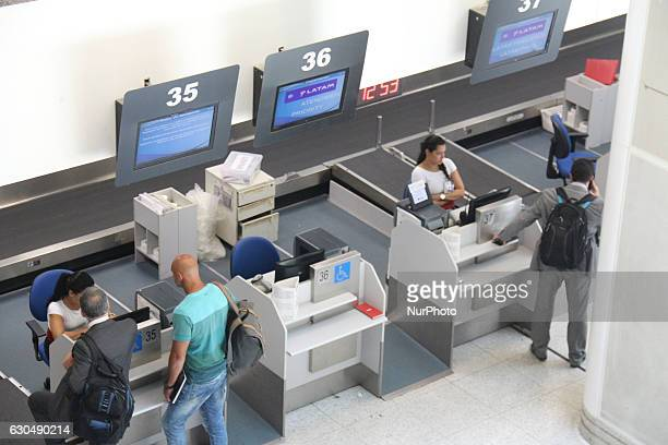 Passenger traffic in the lobby of Santos Dumont Airport in Rio de Janeiro Brazil on 23 December 2016 With the festivities of Christmas and New Year...