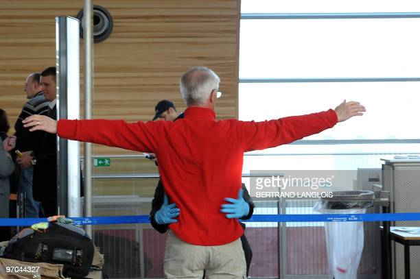 A passenger who refused to be tested in the body scanner introduced today for experimentation at Paris' Charles de Gaulle international airport in...