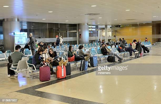 Los pasajeros en Barajas, en Madrid Aeropuerto