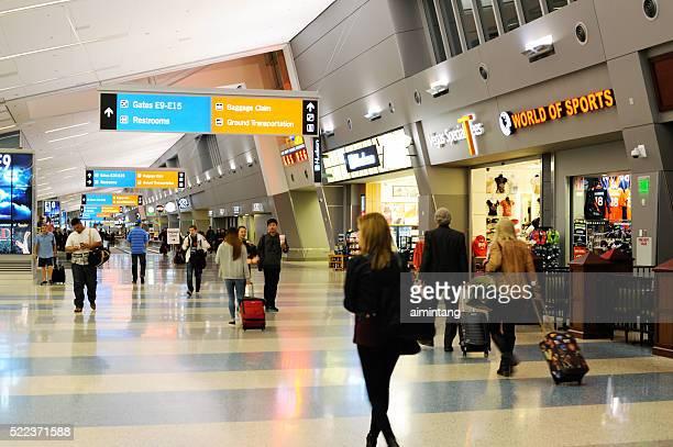 Passagers à l'aéroport Inernational de Las Vegas