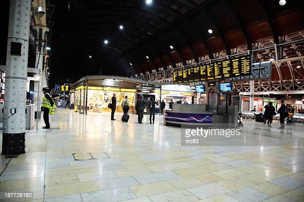 Passengers at Paddington Railway Station in London