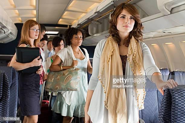 Passengers boarding a plane