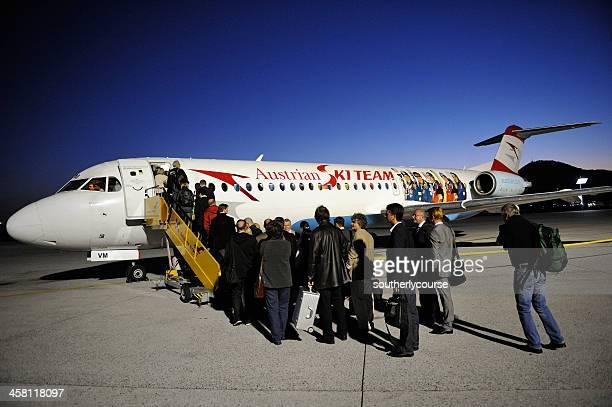 オーストリア航空会社の航空機名様のご乗車