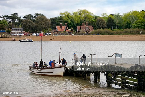 Passengers boarding Felixstowe Ferry : Stock Photo