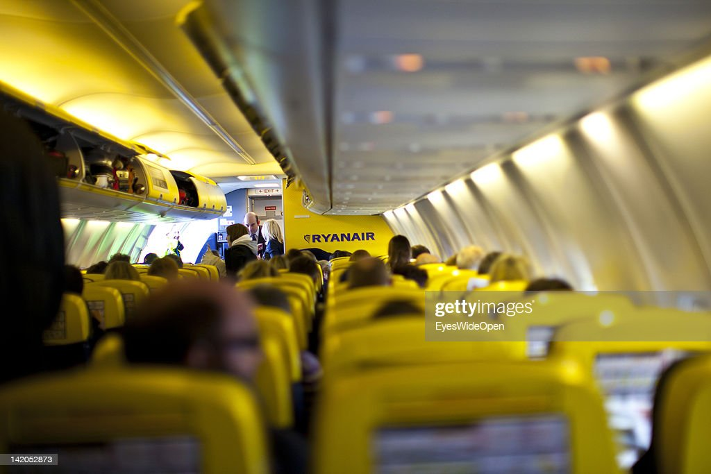 Passengers boarding for departure of a RyanAir flight to Alicante, Spain at Allgaeu Airport on February 18, 2012 in Memmingen, Germany.