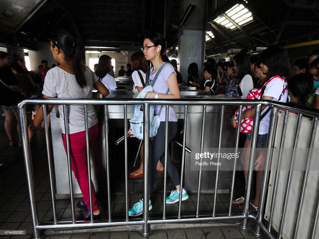 Passengers exit a railway station in Monumento after an accident involving two trains temporarily affected railway operations Railway operations...
