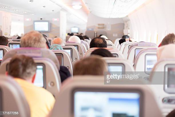 Passengers in the airplane.