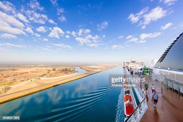 Passengers on a ship, Suez Canal