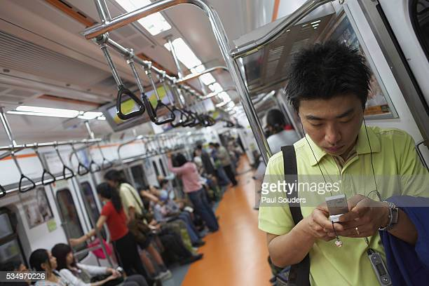 Passengers on Seoul Subway