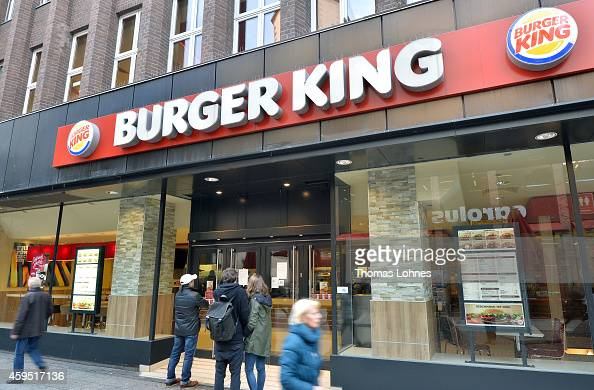 passengers stand for temporary closed Burger King restaurant on November 24 2014 in Frankfurt Germany It is of the 89 Burger King restaurants...