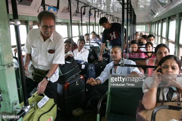 Passengers travel in Best Bus at an airport to Andheri Station in Mumbai on June 22 2010 Up to 85000 taxi drivers and 100000 autorickshaw drivers...