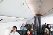 Passengers traveling in an airplane