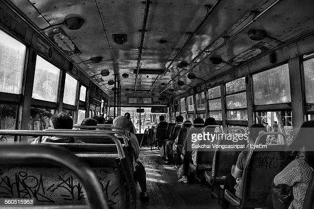 Passengers Travelling In Bus