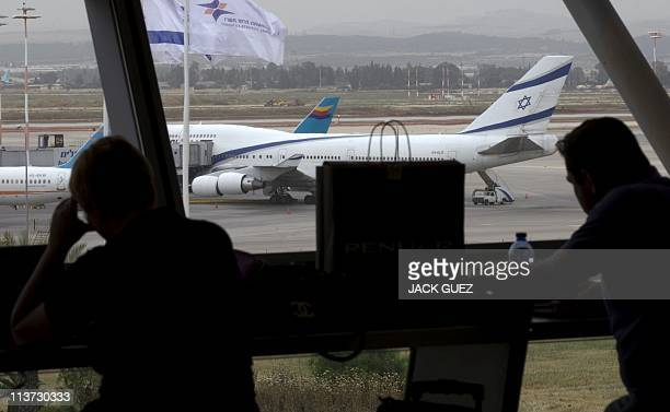 Passengers wait at Israel's Ben Gurion International Airport on May 5 2011 as the airport grounded all departing flights stranding thousands of...