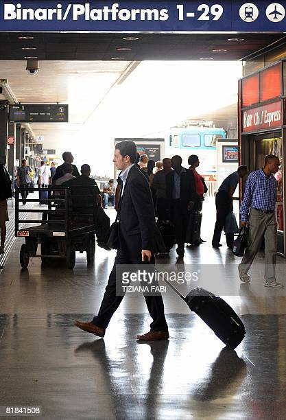 Passengers wait for a train on July 72008 at the Termini railway station in Rome on the day of the general strike of public transports Mass transit...