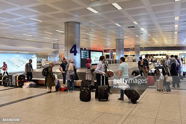 Passengers waiting for bags at Ataturk Airport