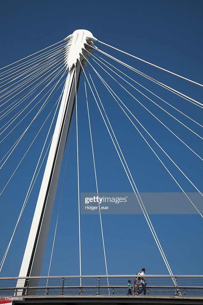 Passerelle des deux Rives bridge over Rhine river
