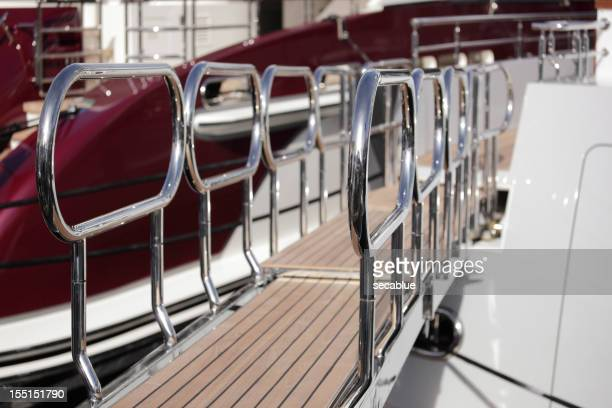 Passerelle on luxury yacht