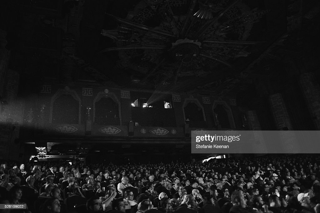 Image has been shot in black and white. Color version not available.) LOS ANGELES, CA - APRIL 29: Passholders attend 'The Conversation' screening during day 2 of the TCM Classic Film Festival 2016 on April 29, 2016 in Los Angeles, California. 25826_005