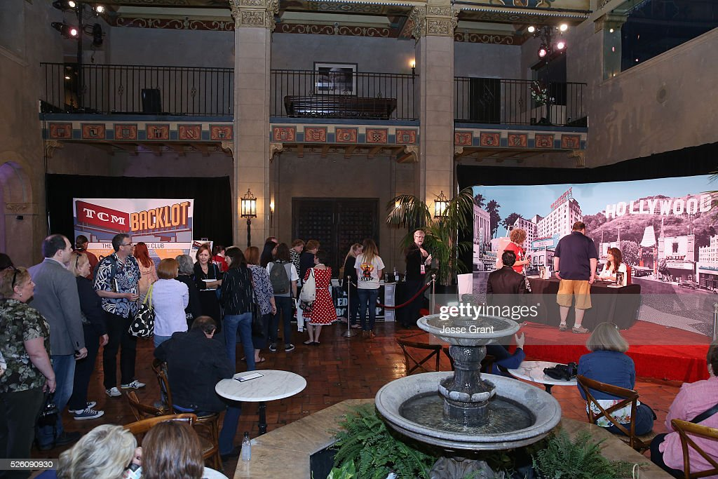 Passholders wait in line for actress/author <a gi-track='captionPersonalityLinkClicked' href=/galleries/search?phrase=Illeana+Douglas&family=editorial&specificpeople=208708 ng-click='$event.stopPropagation()'>Illeana Douglas</a> (R) to sign their book during the <a gi-track='captionPersonalityLinkClicked' href=/galleries/search?phrase=Illeana+Douglas&family=editorial&specificpeople=208708 ng-click='$event.stopPropagation()'>Illeana Douglas</a> book signing during day 2 of the TCM Classic Film Festival 2016 on April 29, 2016 in Los Angeles, California. 25826_009