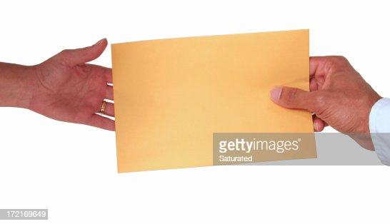 Passing an Envelope / Note