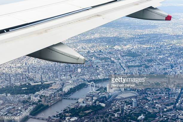Passing over London to Heathrow airport
