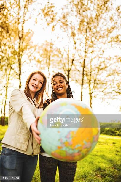 En passant de la planète pour l'amitié