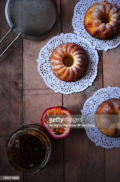 Passion fruit pound cake