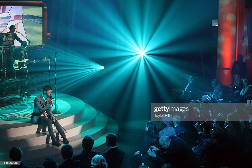 Passion Pit performs during the 16th Annual Webby Awards at Hammerstein Ballroom on May 21, 2012 in New York City.