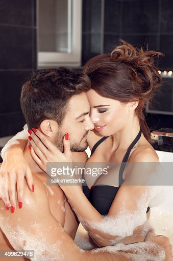 Passionate Couple Foreplay In Jacuzzi