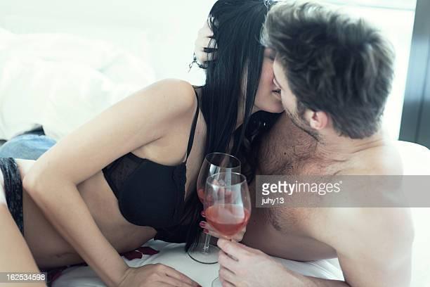 Leidenschaftlich Paar im Bett