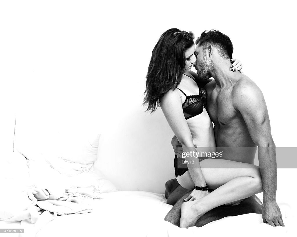 Passionate Couple on the Bed : Stock Photo