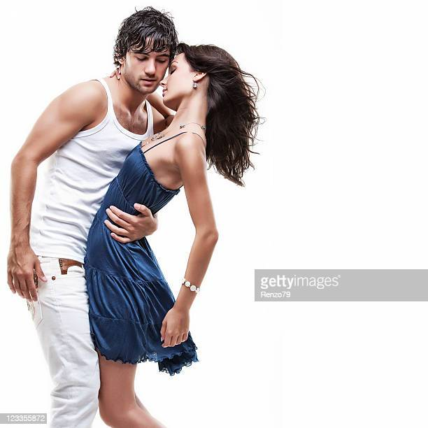 Casal apaixonado (azul & branco sessão